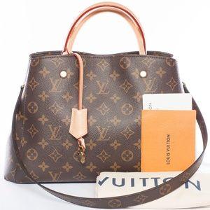 Auth LOUIS VUITTON Montaigne BB 2Way Shoulder Bag